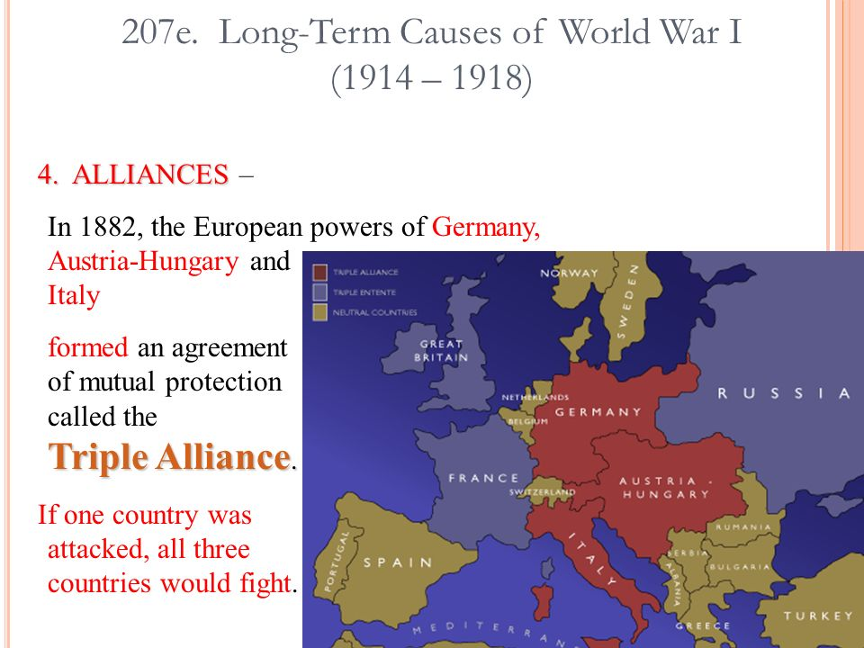 The long term causes of world war 1