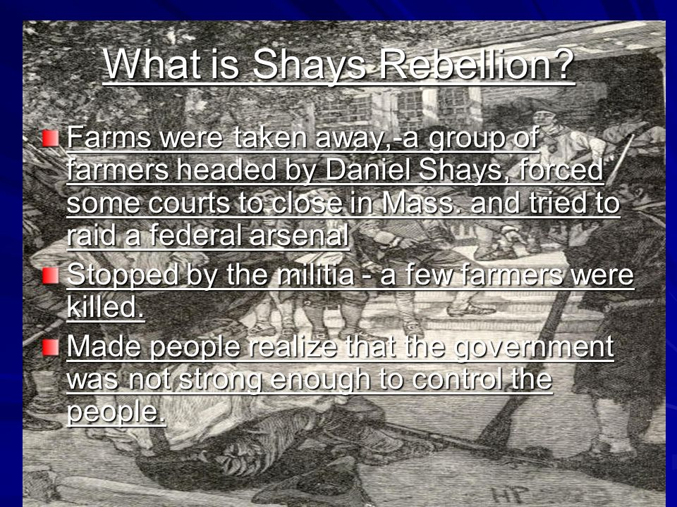 What is Shays Rebellion