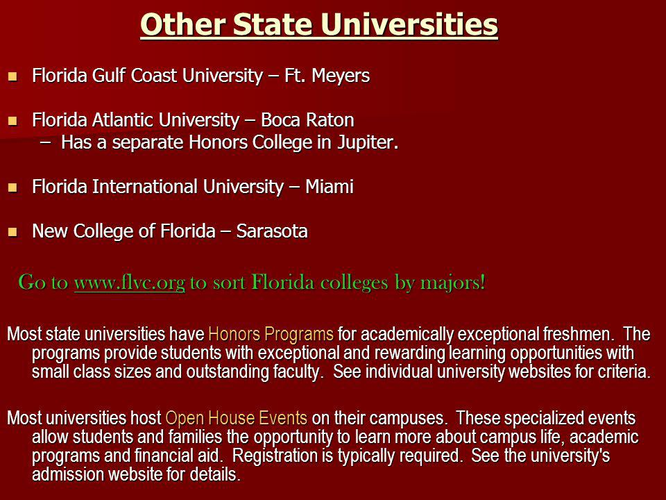Other State Universities