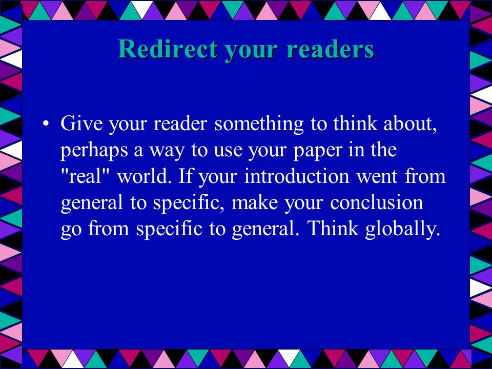 Redirect your readers