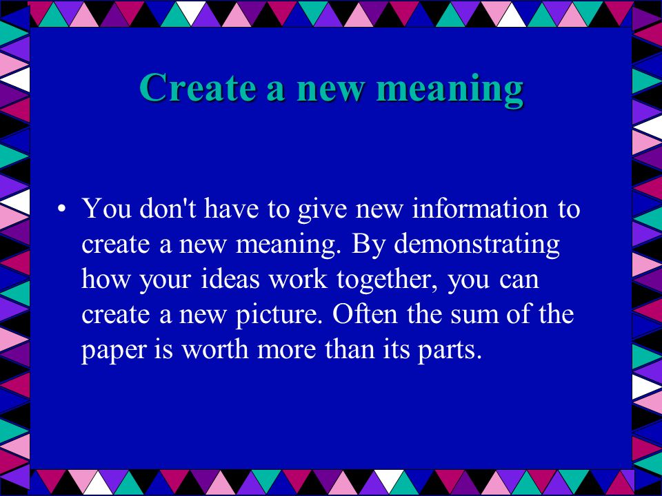 Create a new meaning