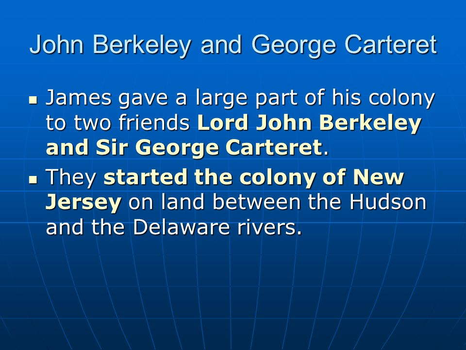 John Berkeley and George Carteret
