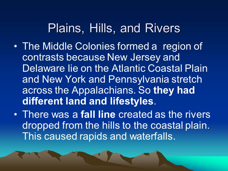 Plains, Hills, and Rivers