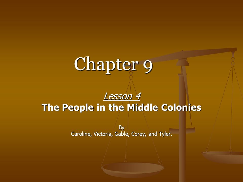 The People in the Middle Colonies