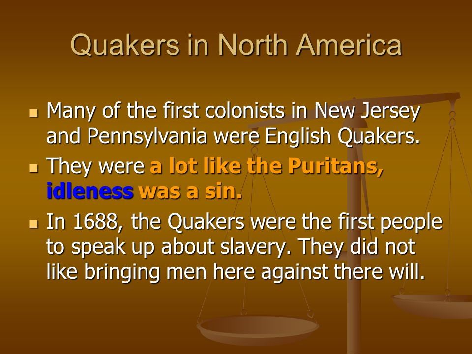 Quakers in North America
