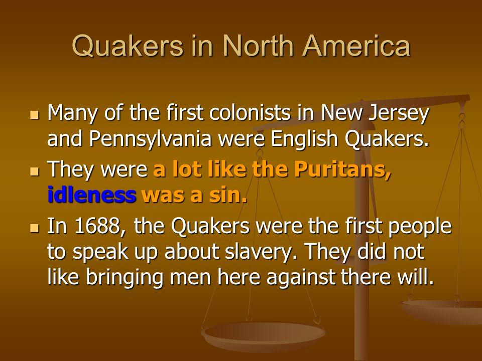 Quakers in North America