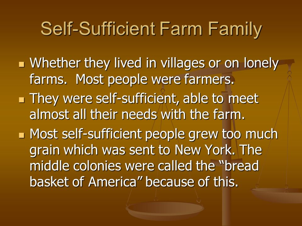 Self-Sufficient Farm Family