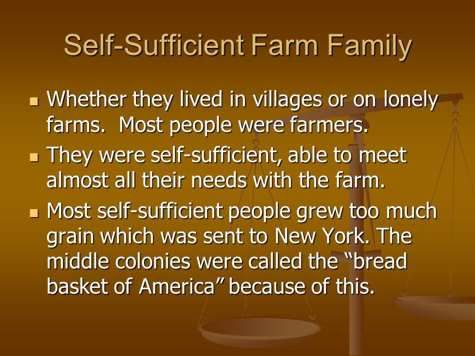 Self-Sufficient Farm Family