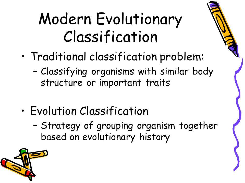 Modern Evolutionary Classification