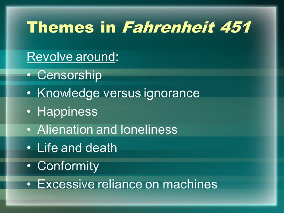 Themes in Fahrenheit 451 Revolve around: Censorship