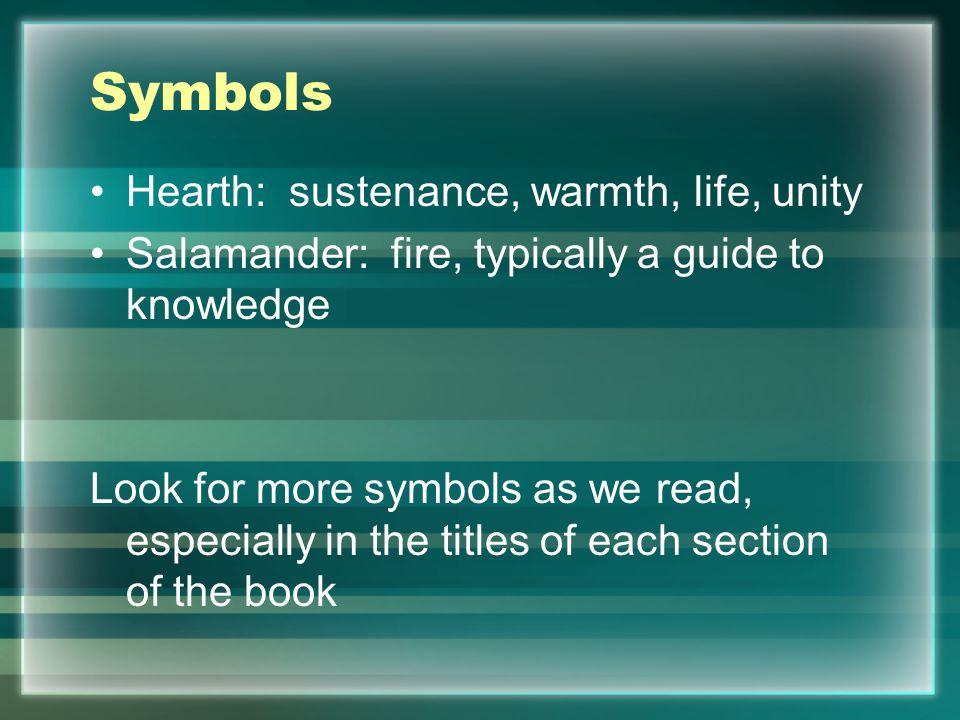 Symbols Hearth: sustenance, warmth, life, unity
