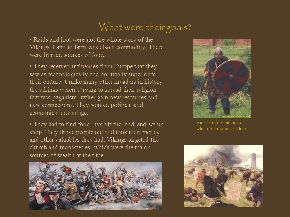 What were their goals Raids and loot were not the whole story of the Vikings. Land to farm was also a commodity. There were limited sources of food.