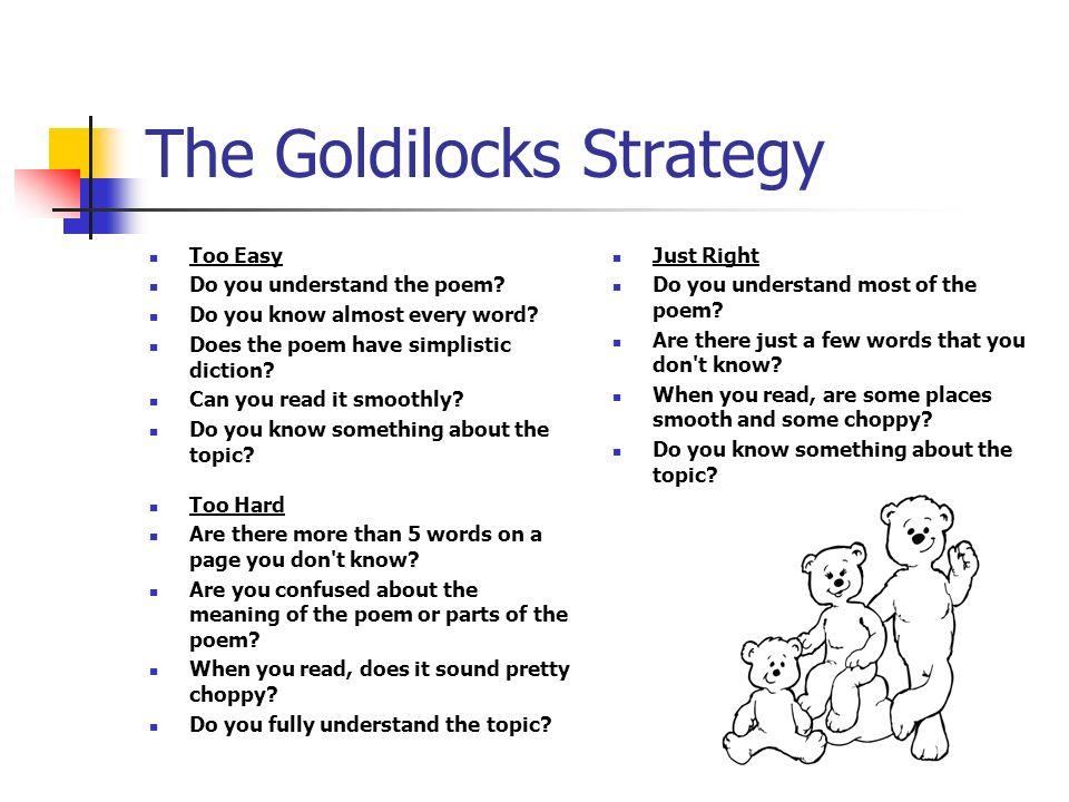 The Goldilocks Strategy