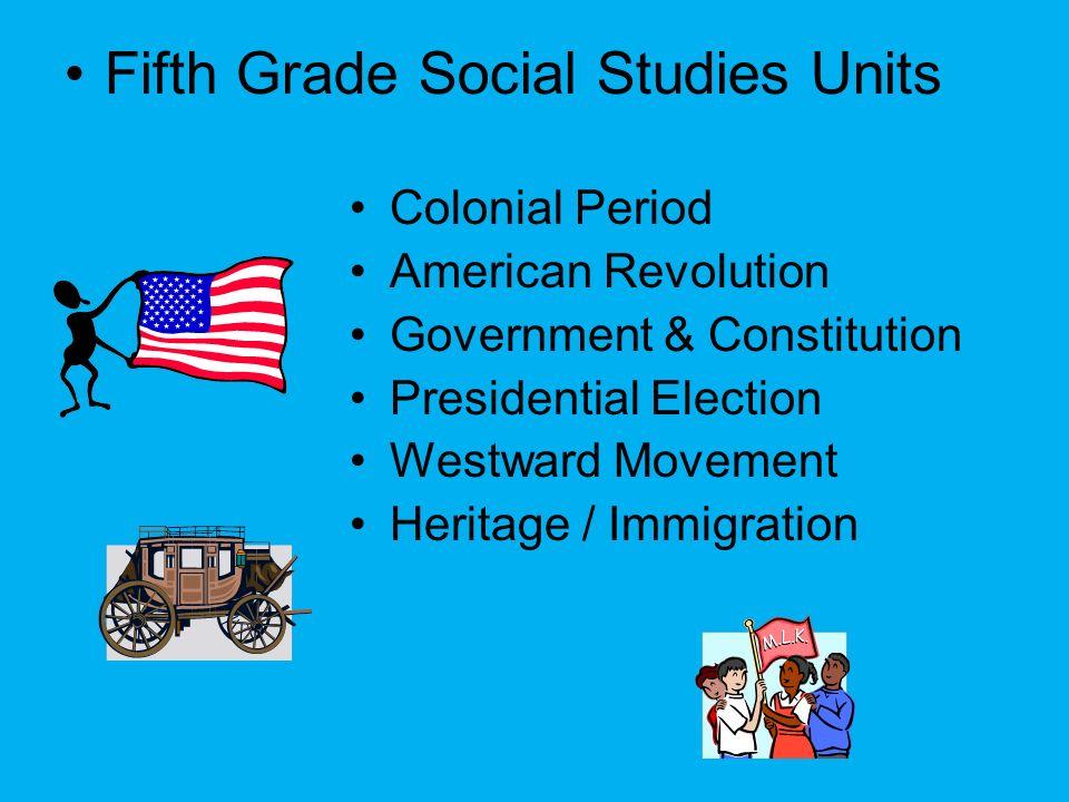 Fifth Grade Social Studies Units
