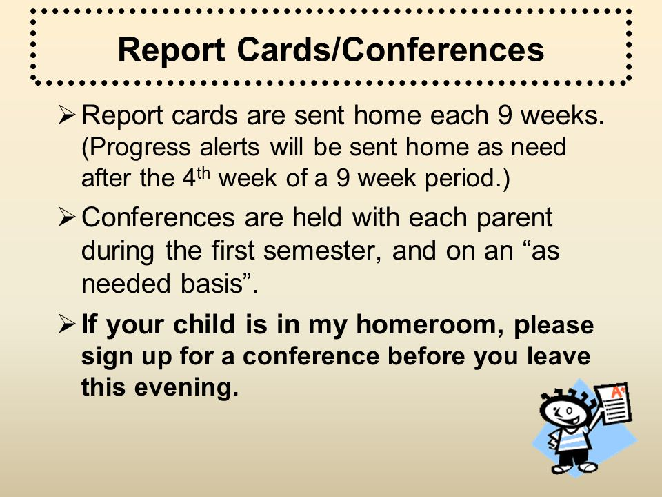 Report Cards/Conferences