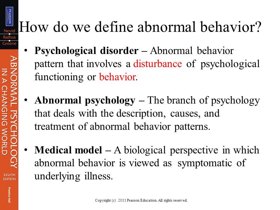 branch of psychology concerned with abnormal behavior