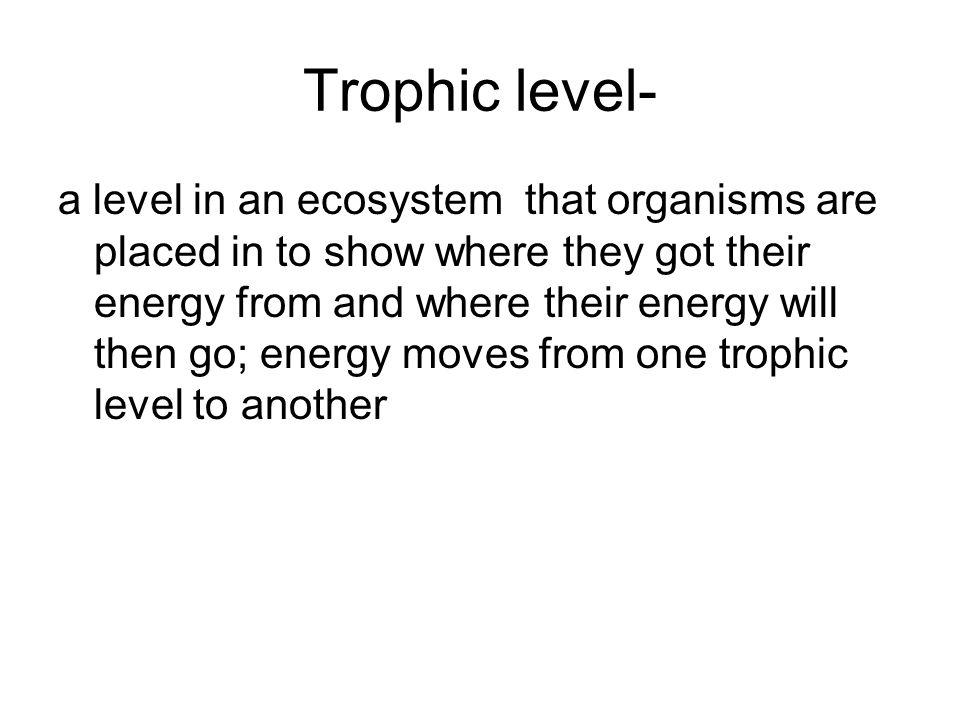 Trophic level-