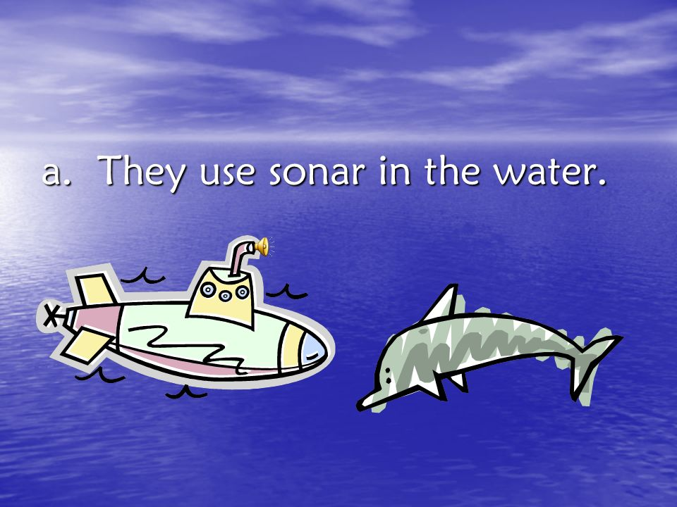 a. They use sonar in the water.