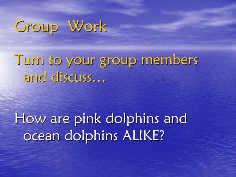 Group Work Turn to your group members and discuss…