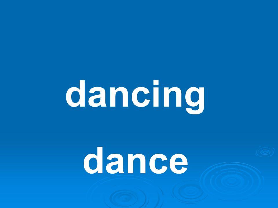 dancing dance