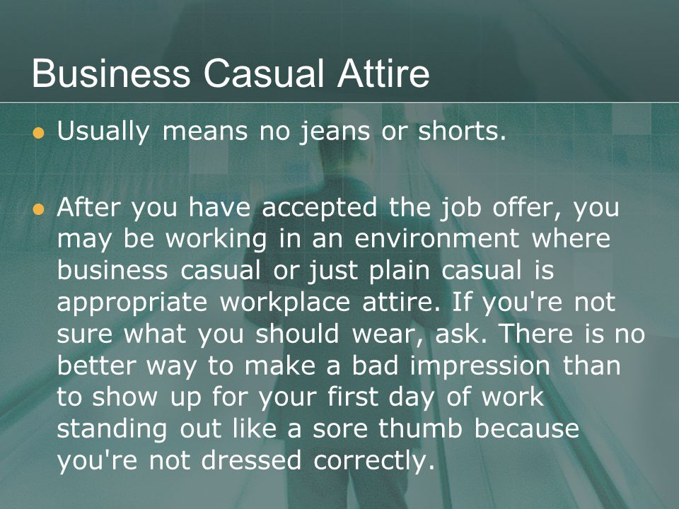Business Casual Attire