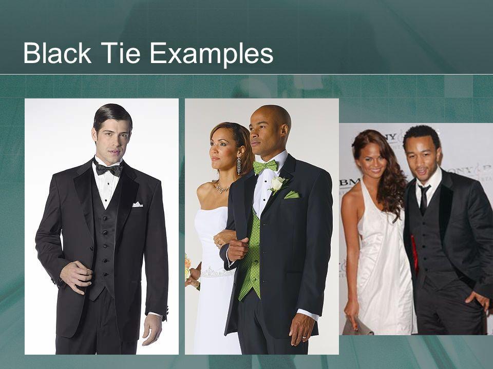 Black Tie Examples