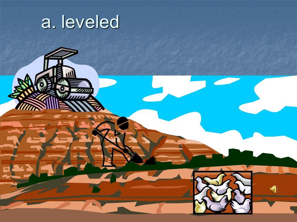 a. leveled