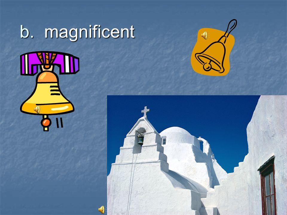 b. magnificent