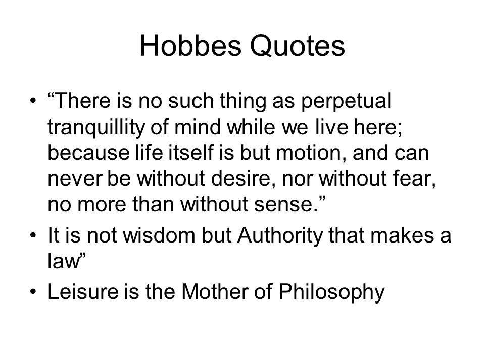 Hobbes Quotes