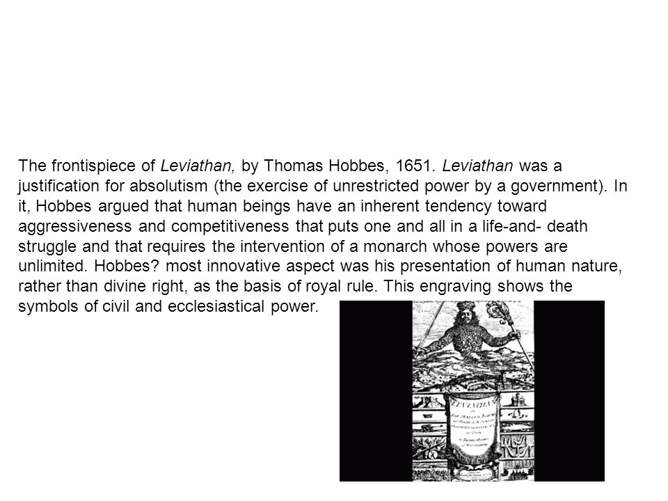 The frontispiece of Leviathan, by Thomas Hobbes, 1651