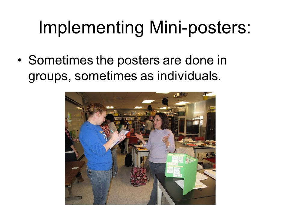 Implementing Mini-posters: