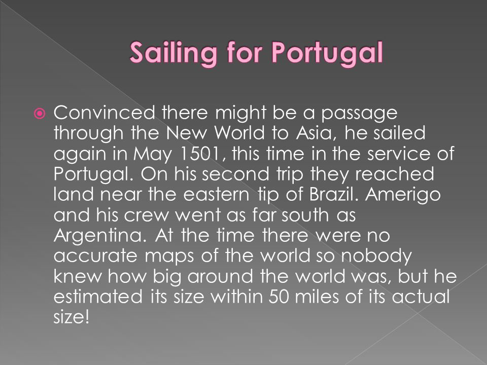 Sailing for Portugal