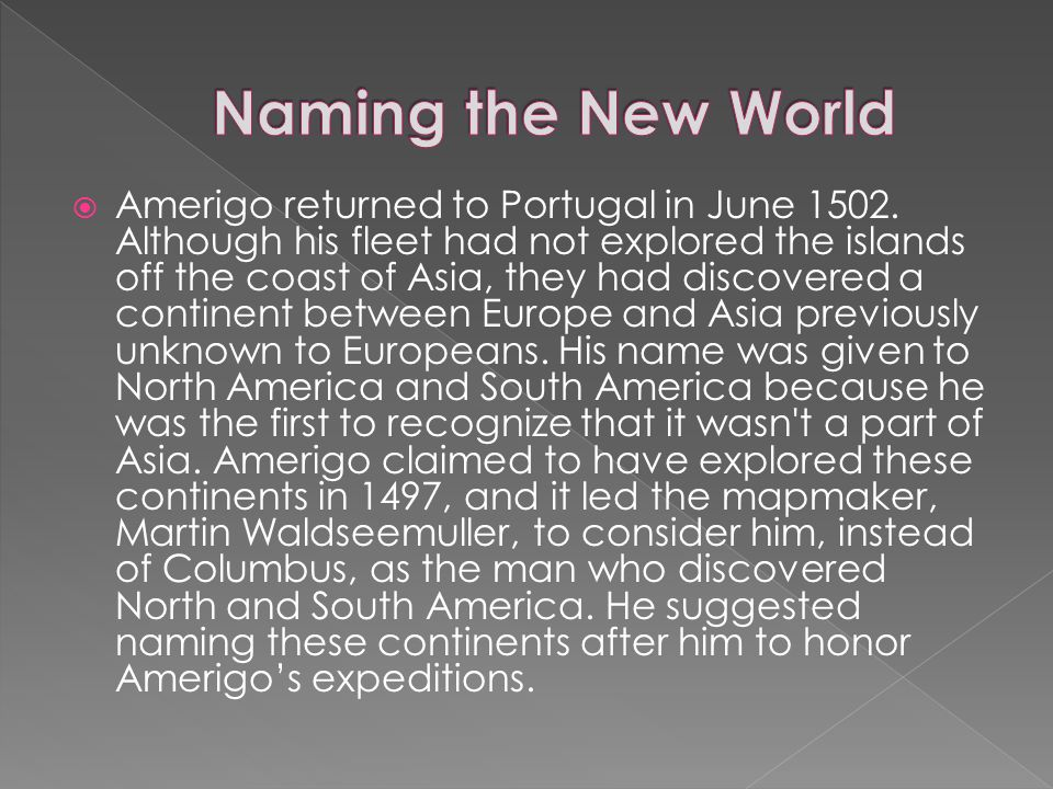 Naming the New World