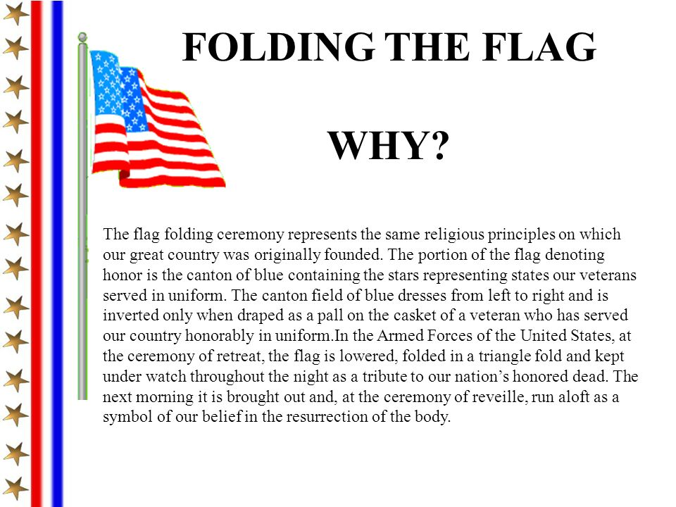 FOLDING THE FLAG WHY