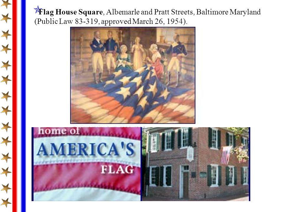 Flag House Square, Albemarle and Pratt Streets, Baltimore Maryland