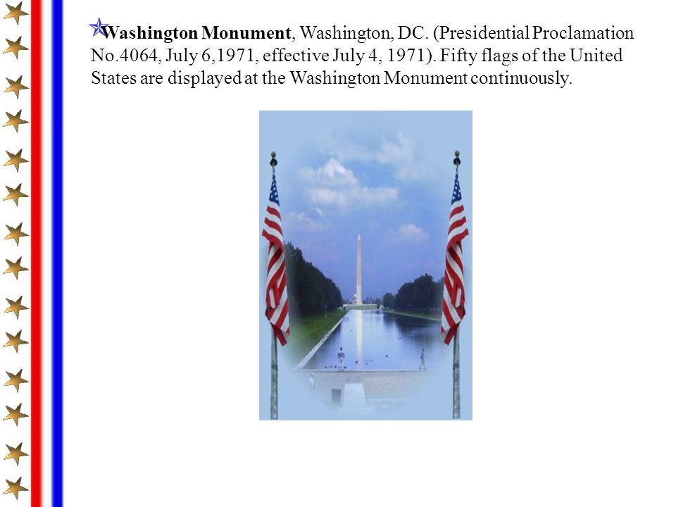 Washington Monument, Washington, DC. (Presidential Proclamation