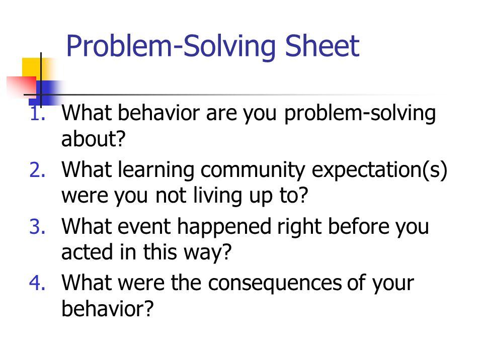 Problem-Solving Sheet