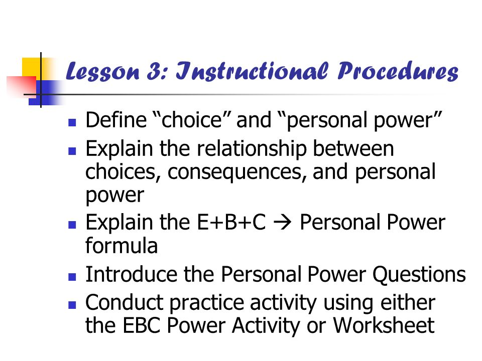 Lesson 3: Instructional Procedures