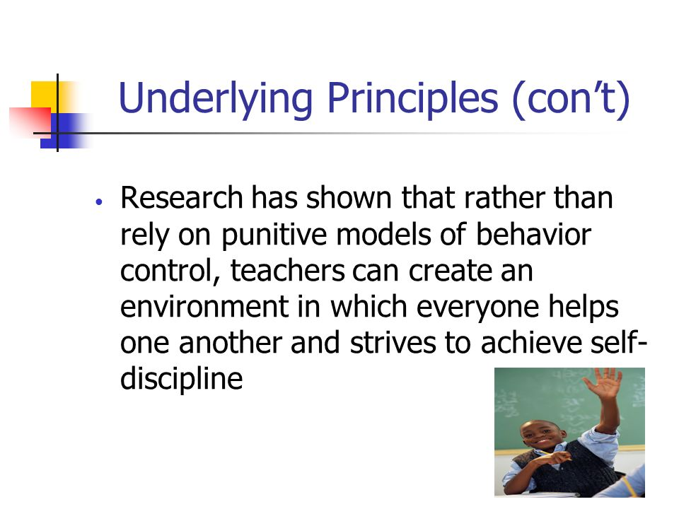 Underlying Principles (con't)