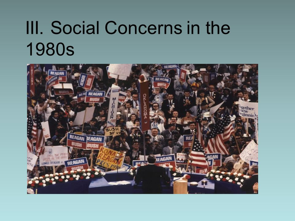 III. Social Concerns in the 1980s