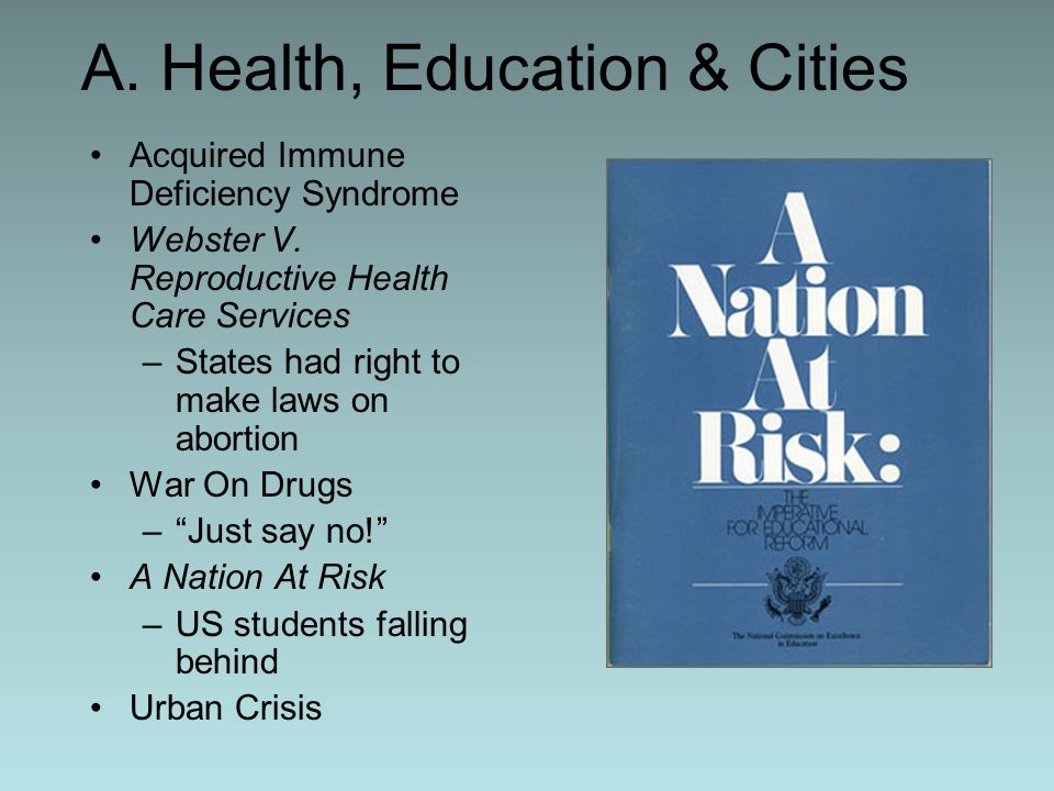 A. Health, Education & Cities