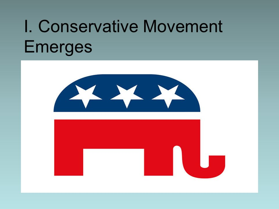 I. Conservative Movement Emerges