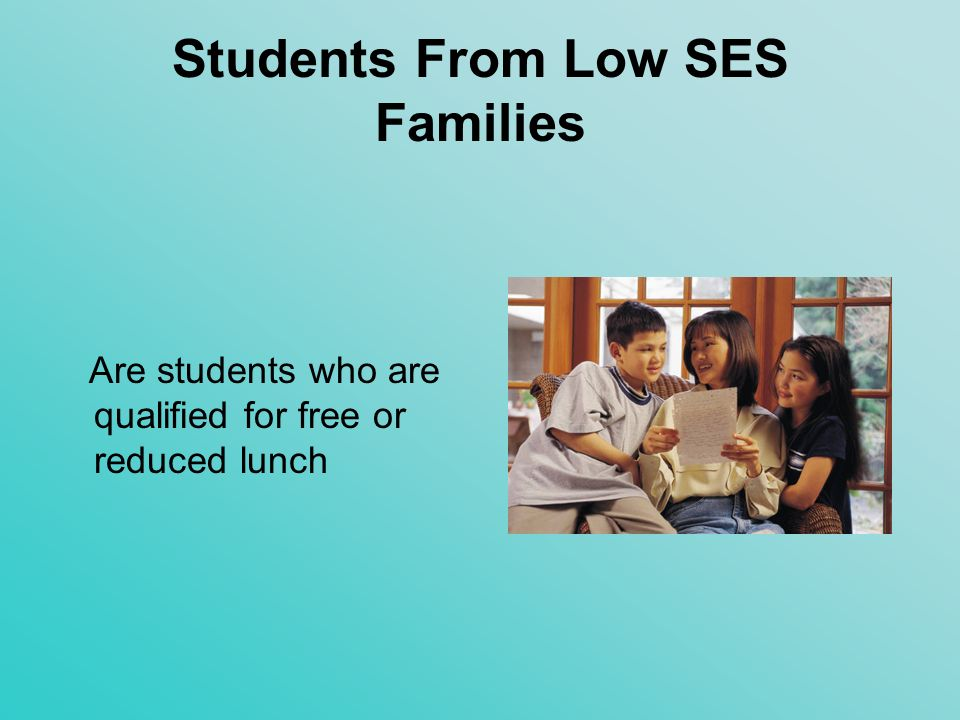 Students From Low SES Families