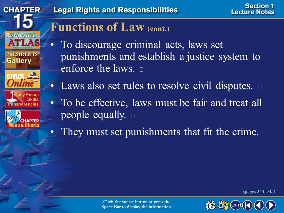 Functions of Law (cont.)