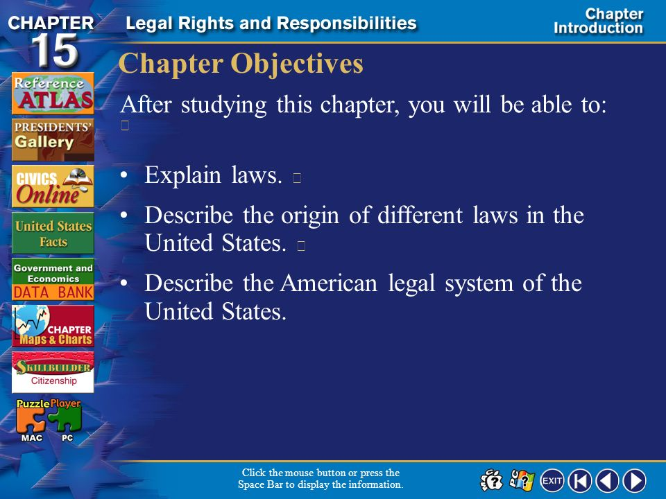 Chapter Objectives After studying this chapter, you will be able to: 