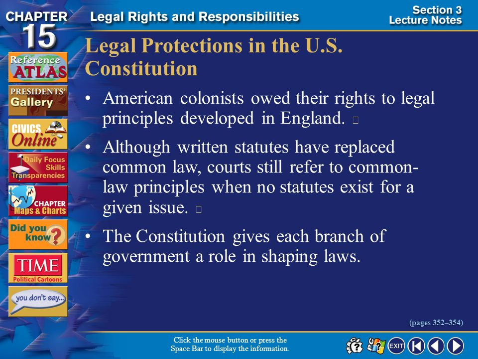 Legal Protections in the U.S. Constitution