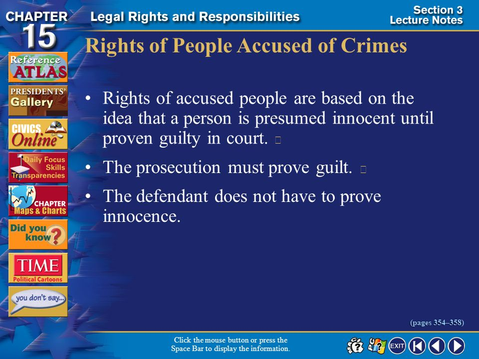Rights of People Accused of Crimes