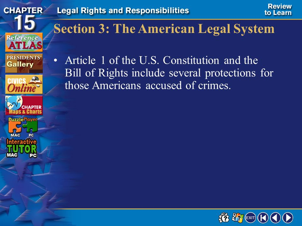 Section 3: The American Legal System