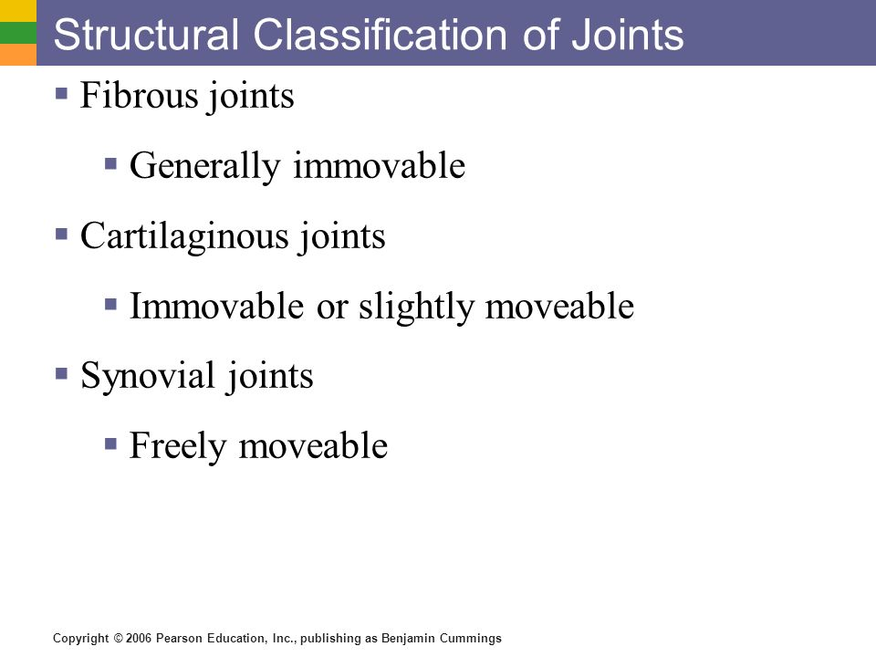 Structural Classification of Joints
