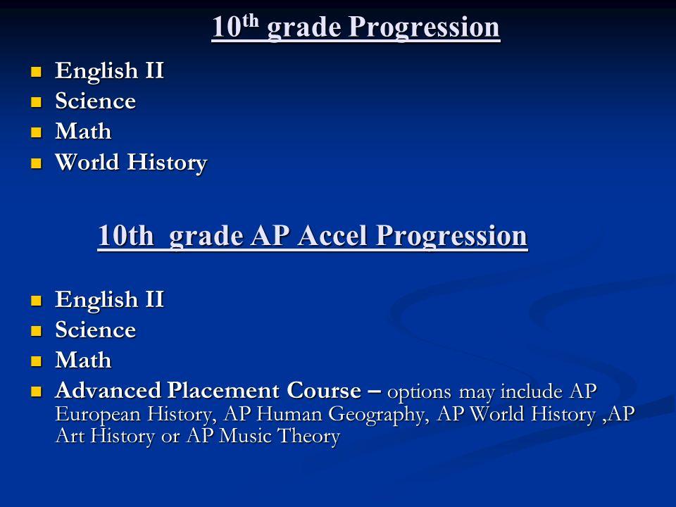 10th grade AP Accel Progression